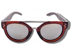 Polarized Wood Sunglasses - Silver Blowfish