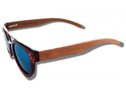 Polarized Wood Sunglasses - Blue Stingray