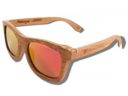 Polarized Wood Sunglasses - Orange Lion
