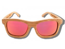 Gafas de Sol de Madera - Orange Lion