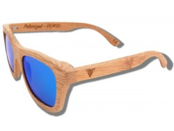 Polarized Wood Sunglasses - Blue Lion