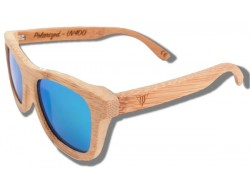 Polarized Wood Sunglasses - Green Lion
