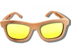 Polarized Wood Sunglasses - Golden Lion