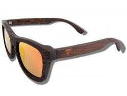 Polarized Wood Sunglasses - Orange Grizzly