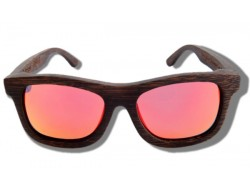 Gafas de Sol de Madera - Orange Grizzly