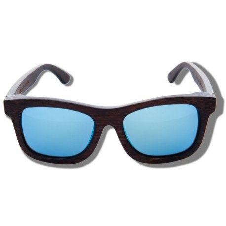 Polarized Wood Sunglasses - Blue Grizzly