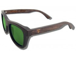 Polarized Wood Sunglasses - Green Grizzly