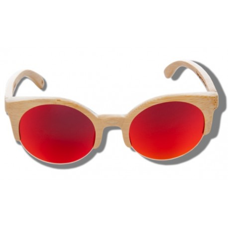 Polarized Wood Sunglasses - Orange Lynx