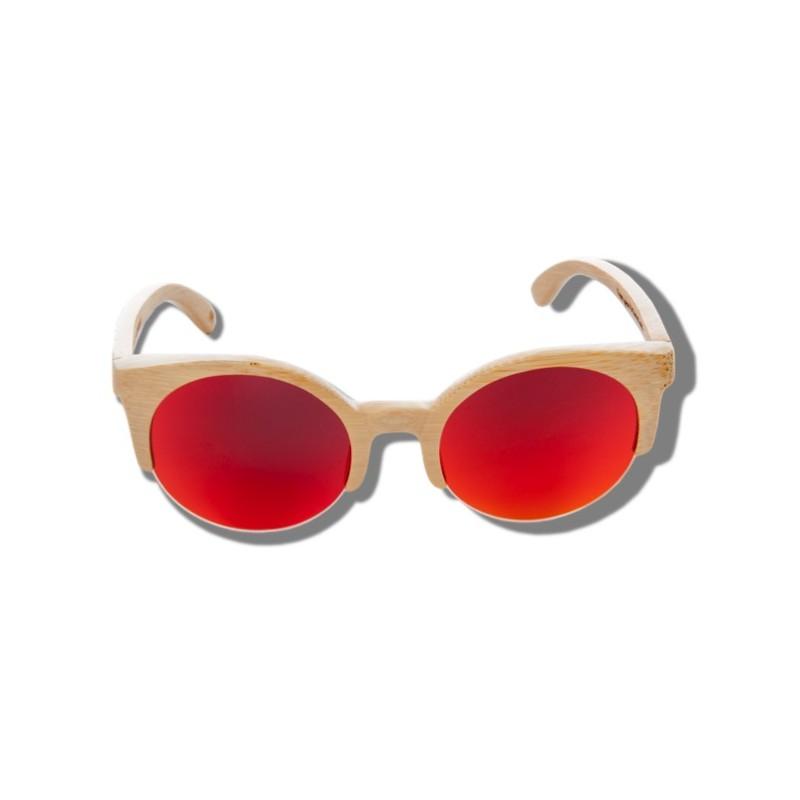 a687cf9177 ... Polarized Wood Sunglasses - Orange Lynx ...