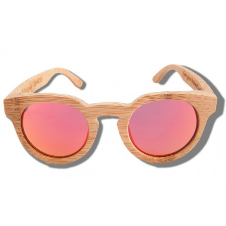 Polarized Wood Sunglasses - Orange Tiger
