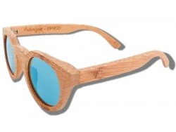 Polarized Wood Sunglasses - Blue Tiger