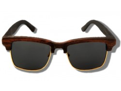 Polarized Wooden Sunglasses - Brown Panther