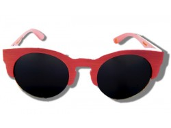 Polarized Wooden Sunglasses - Pink Owl
