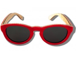 Polarized Wooden Sunglasses - Red Dragonfly