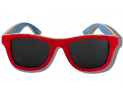Polarized Wood Sunglasses - Red Chameleon