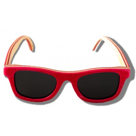 Polarized Wooden Sunglasses - Flamingo