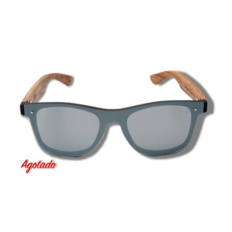Silver Parrot - Wooden Sunglasses